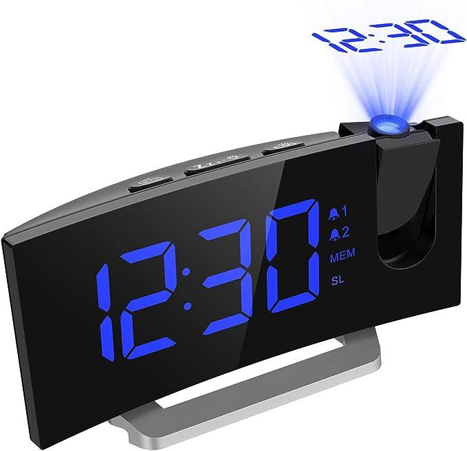 Radio Despertador Digital Proyector, Mpow FM Radio Reloj ...