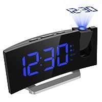 【Neue Version】Projektionswecker, Mpow FM Radiowecker mit Dual-Alarm, 5'' große LED-Anzeige, Radiowecker mit Projektion Uhrenradio digitaler Wecker, Reisewecker, Tischuhr mit USB-Ladeanschluss, 5 Helligkeitsstufen mit Dimmer, 4 Alarmtöne mit 3 einstellbare Lautstärke, 9 ' Snooze Zeit, 120° Dreh-Projektor, Perfekt für Wohnzimmer, Schlafzimmer, Küche, Büro.
