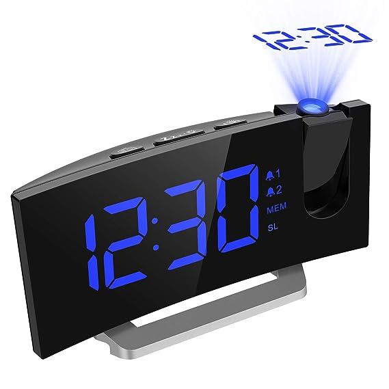 "[Regalo] Radio Despertador Digital Proyector, Pantalla LED 5"" FM Radio Reloj Despertador"