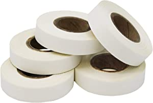 ChromaLabel Labeling Tape Value Pack, 5 Rolls of White Tape, 500 inch Rolls, 1/2 inch