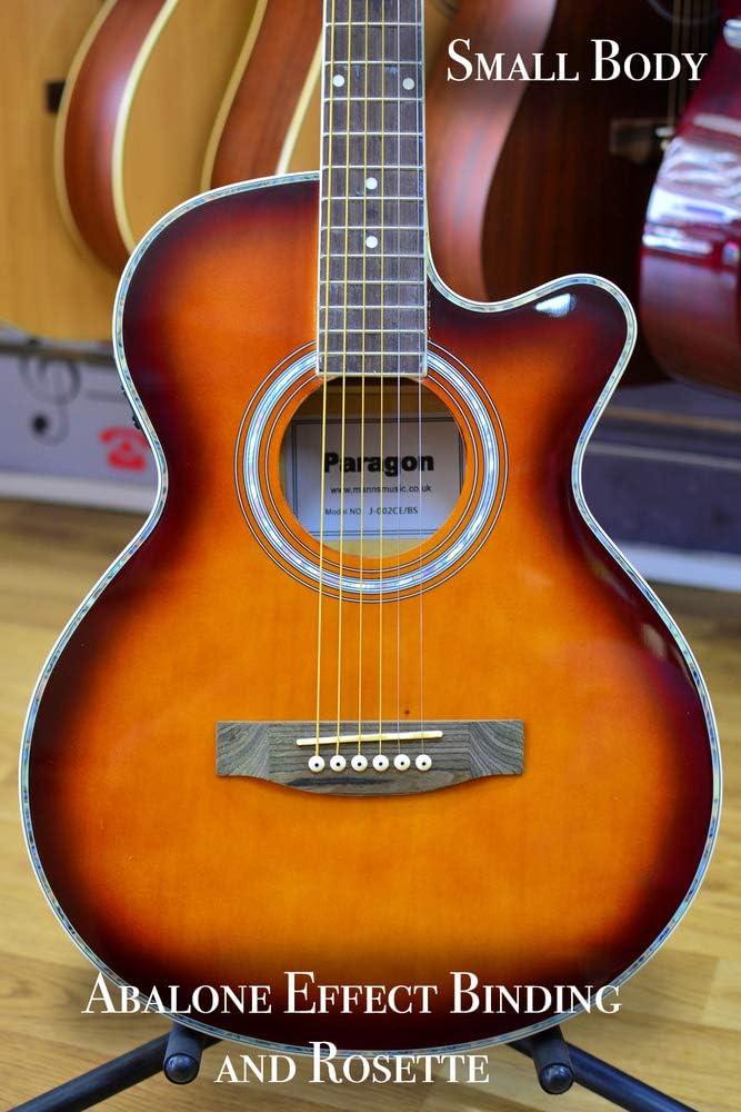 Paragon J002CE. Guitarra Electroacústica, color marrón: Amazon.es ...