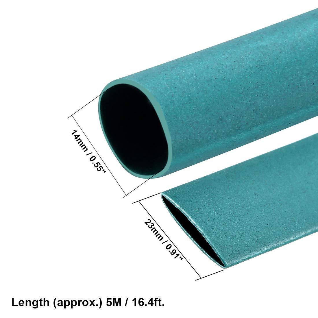 14 mm Durchmesser Draht-Schlauch Sourcingmap Schrumpfschlauch Gr/ün 5 m L/änge 2:1 Elektrische Isolierschlauch