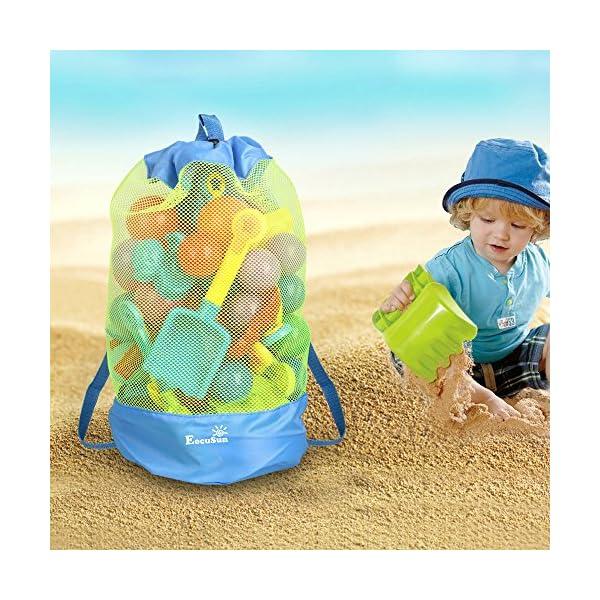 Borsa da Spiaggia, EocuSun Grande Borsa Lunga Durata per Sabbia Nuotare e Piscina e Deposito Giocattoli Bambini da… 2 spesavip