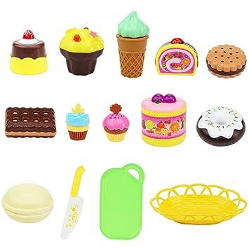 Amazon.com: Leoy88 - Juego de pasteles de postre, juguete de ...