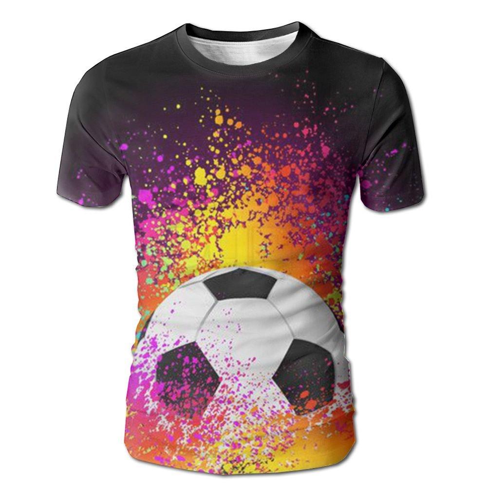 Flame Over The Calf Soccer Men Slim Fit Short Sleeve Running T-Shirt Shirts