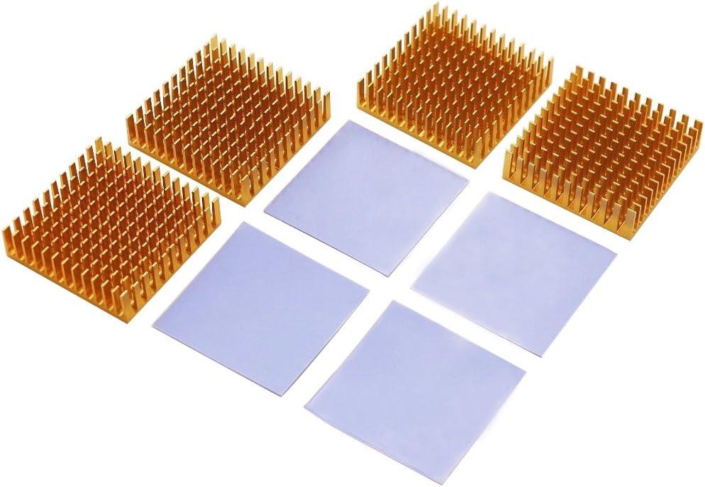 Aluminum Heatsink Radiator Heat Sink Cooling Cooler Fin 40mm x 40mm x 11mm