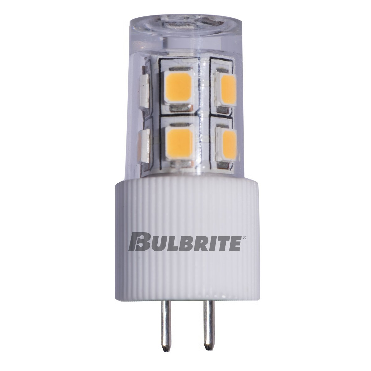 BULBRITE LED JC BI-PIN (G4) 2W Non-DIMMABLE Light Bulb 3000K/SOFT White 15 Incandescent Equivalent (Pack of 2)