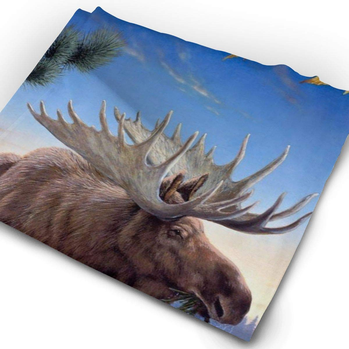 Free Moose Wallpaper Unisex Fashion Quick-Drying Microfiber Headdress Outdoor Magic Scarf Neck Neck Scarf Hooded Scarf Super Soft Handle
