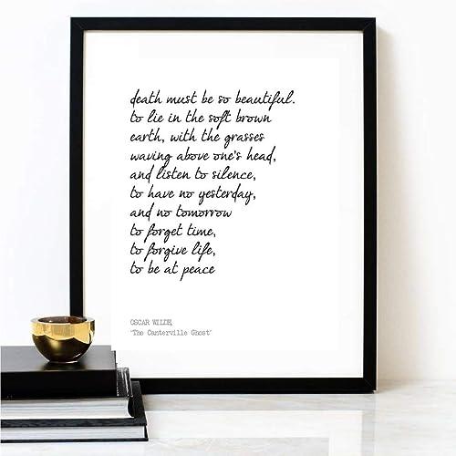 Amazoncom Death Must Be Beautiful Oscar Wilde Poem