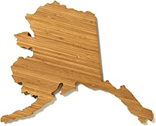 product image for AHeirloom State of Alaska Cutting Board, 16 Inch, Amber