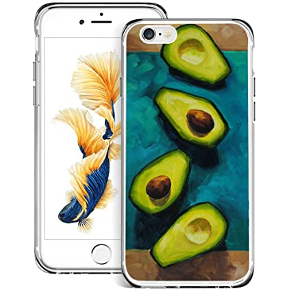 Amazon.com: Carcasa transparente para iPhone 6S 6, diseño de ...