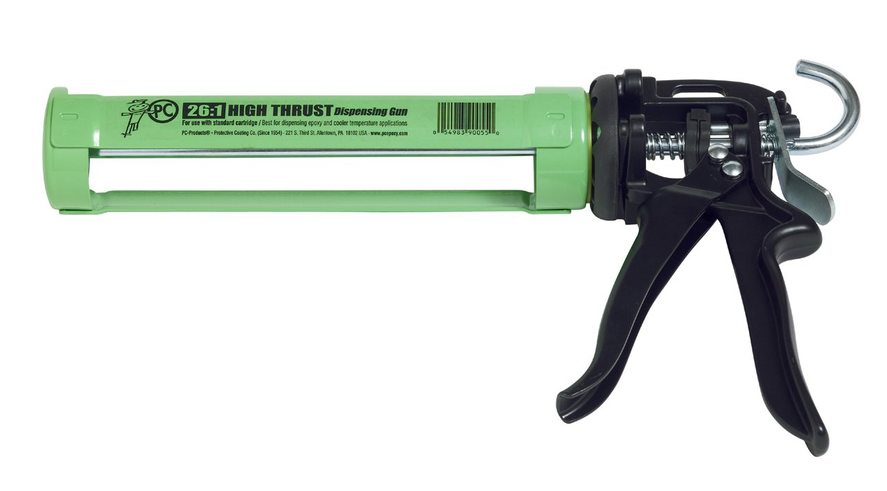 PC Products 900550 Steel Dispensing Caulking Gun, Standard 250 ml, Lime Green