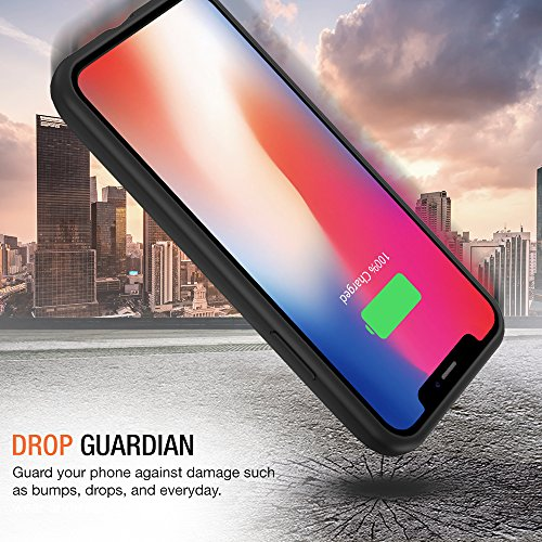 iPhone X Battery Case with Qi Wireless Charging, Trianium 3000mAh [Black] Rechargeable Juice Power Charger Battery Case for iPhone X 10 [Apple Certified Part/Not Support with Wireless Charging Pad] by Trianium (Image #6)