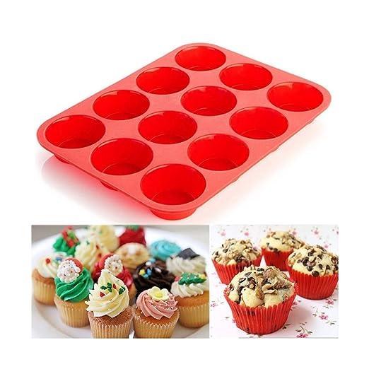 Molde de 12 tazas Muffin Cupcake Hornear Antiadherente ...