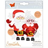Tonic Studios Christmas Buildables Mrs Claus, Metal, Grey, 5 x 5.5 x 0.1 cm