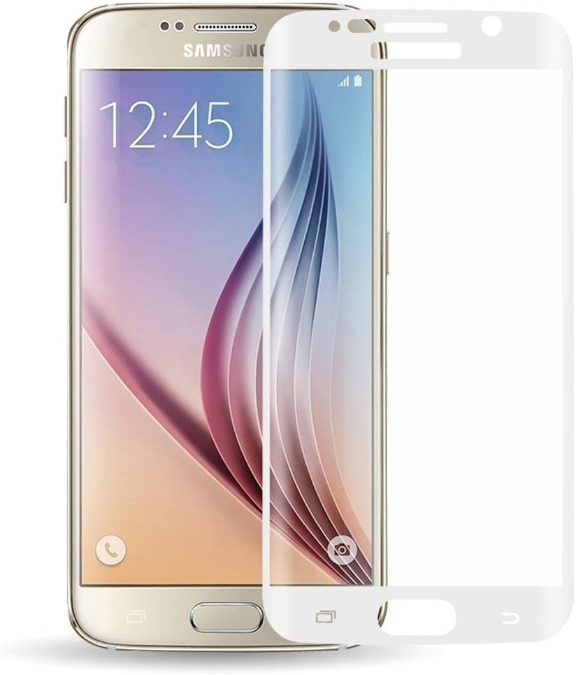 Tempered Glass Clear Screen Protector Scratch-Resistant Screen Guard for Samsung Galaxy S6 Edge G925 2 Packs White Galaxy S6 Edge Tempered Glass Screen Protector