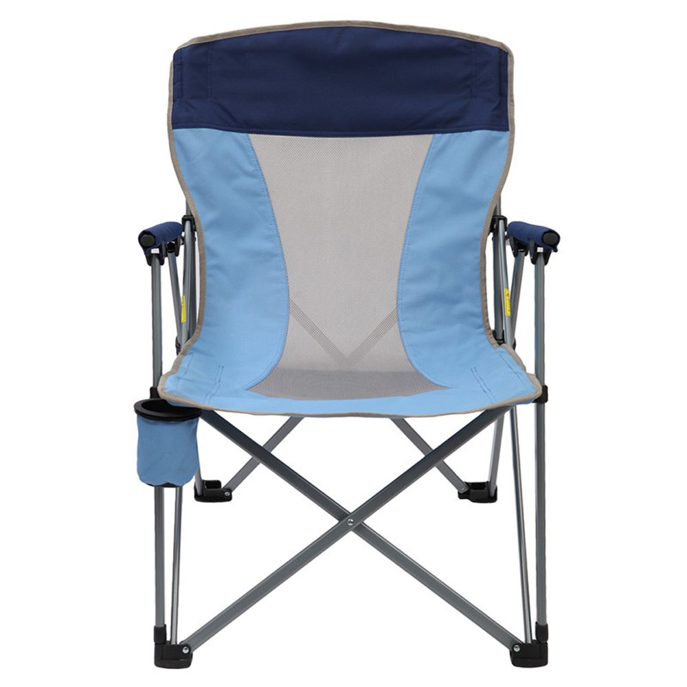 Amazon.com: NYDZDM Folding Steel Frame Camping Chair Padded with ...