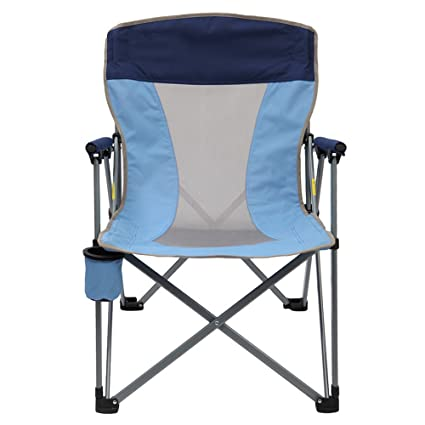 Amazon.com: NYDZDM Folding Steel Frame Camping Chair Padded ...