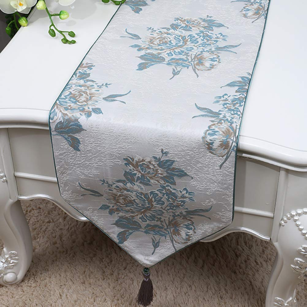 Amazon.com: Table Runner with Tassels, Printed with Flowers ...