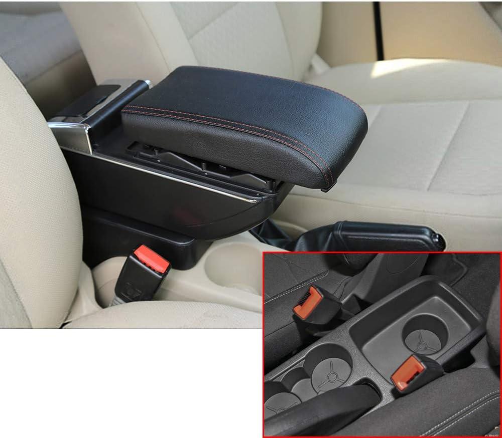 F/ür 2009-2017 F ord Fiesta 3 MK7 Luxus Auto Armlehne Mittelarmlehne mittelkonsole Zubeh/ör Eingebaute LED-Licht Beige