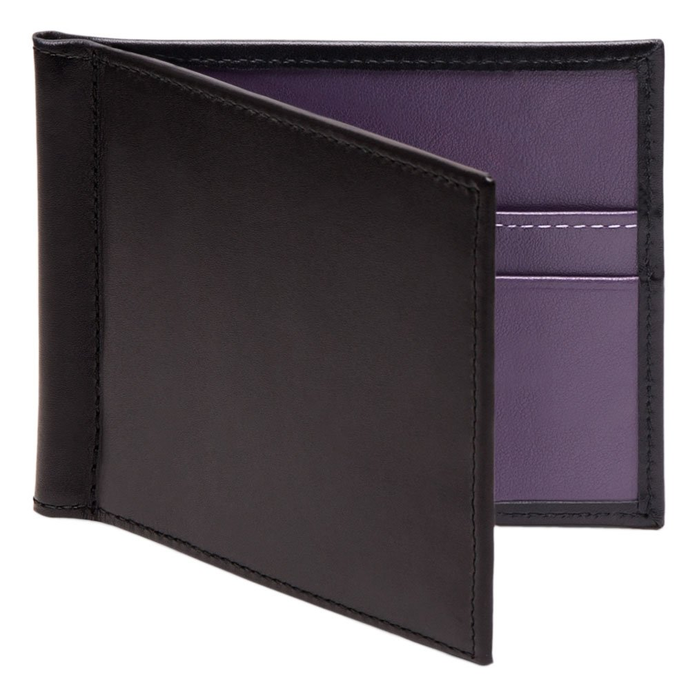 Ettinger Men's Sterling Money Clip Wallet - Purple/Black