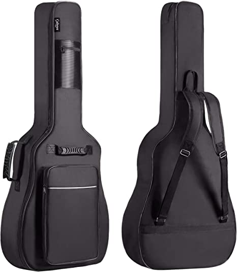 acustica Custodia per chitarra 4//4 colore: Nero per chitarra folk Dellwing di alta qualit/à chitarra da concerto e chitarra classica chitarra elettrica