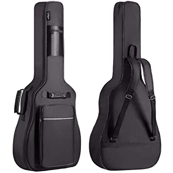 Buy Cahaya Guitar Bag Premium Version 41 42 Inch Acoustic Guitar Gig Bag With 0 31 Inch Extra Thick Sponge Padded Guitar Case Soft Online At Low Prices In India Amazon In