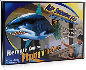Kengsiren Remote Control Flying Fish Remote Control Clownfish Flying Shark Remote Control Toys Plastic Inflatable Toys Children's Passing Time Games