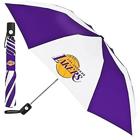 "Amazon.com: Totes NBA Auto Fold 42"" Umbrella Los Angeles Lakers 2 Pack: Sports & Outdoors"