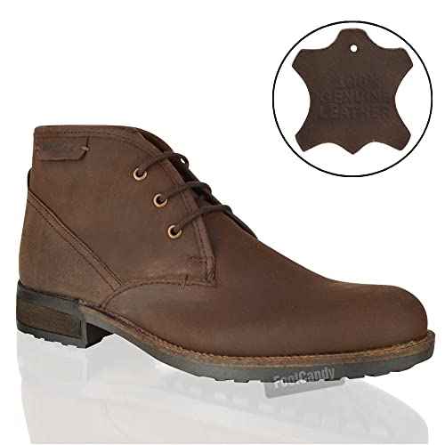 Mens Rex Boots Crazy Brown Leather Uk 8 Eur 42 Usa 9 Amazon Co Uk