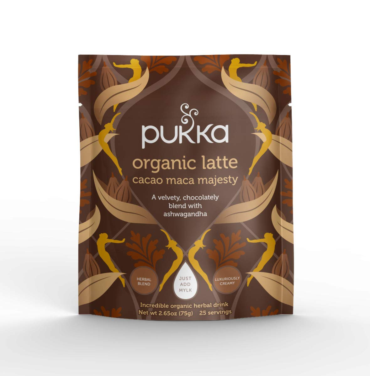 Pukka Cacao Maca Majesty, Organic Herbal Latte with Ashwagandha, 75g by Pukka Herbs