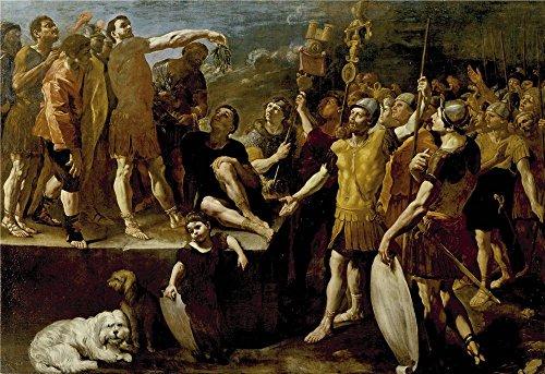 Polyster Canvas ,the Imitations Art DecorativeCanvas Prints Of Oil Painting 'Lanfranco Giovanni Di Stefano Alocucion De Un Emperador Romano Ca. 1638 ', 20 X 29 Inch / 51 X 74 (Cute Rag Doll Halloween Makeup)