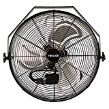NewAir Wall Mount Fan, 18' High Velocity Industrial Shop Fan with 3 Speed Settings, WindPro18W