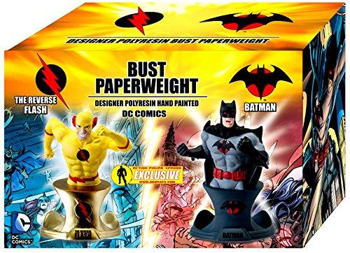 DC Flashpoint Batman and Reverse Flash Busts Action Figure (Batman Icon)