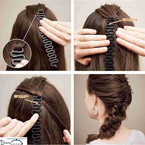 (usongs Korean children's hair braider centipede braid hair disk hair styling hair tools hair accessories hairpin)