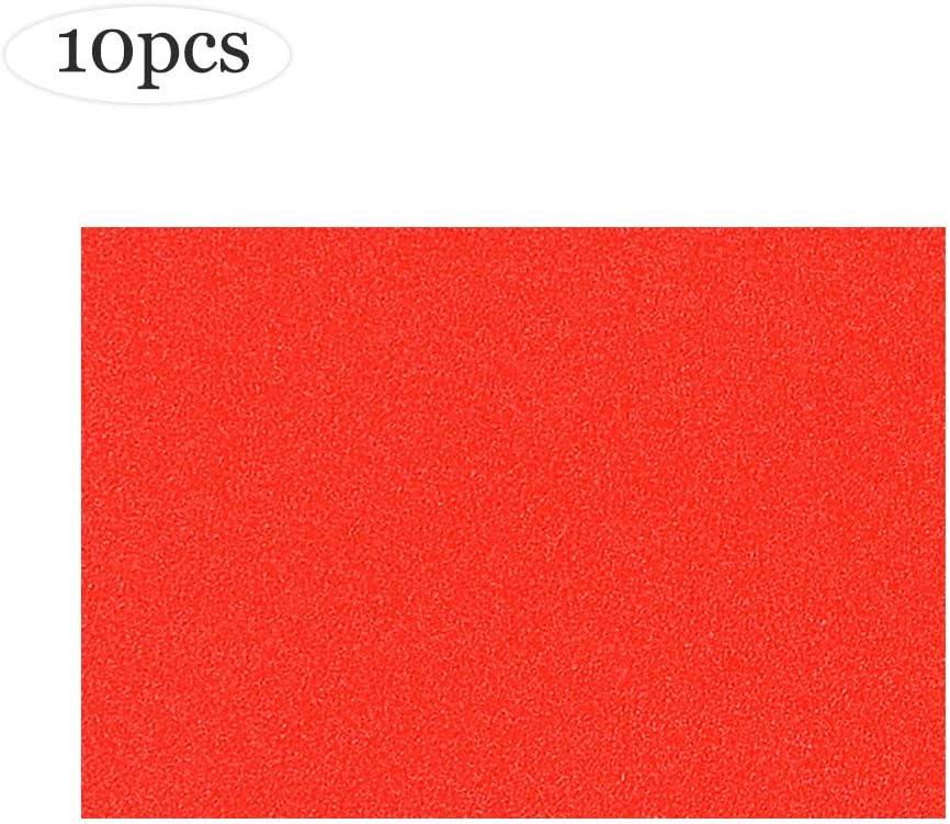 XFentech Pegatinas con purpurina A4 de 10 hojas - Artes y Oficios, Brillo normal para Craft Scrapbooking Decoupage 21 * 29.7cm (colores rojos): Amazon.es: Hogar
