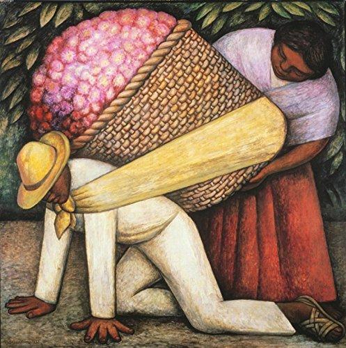Diego Rivera The Flower Seller Circa 1941 : Art Print