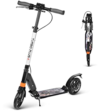 Amazon.com: besrey Kick Scooter - Patinete plegable con ...