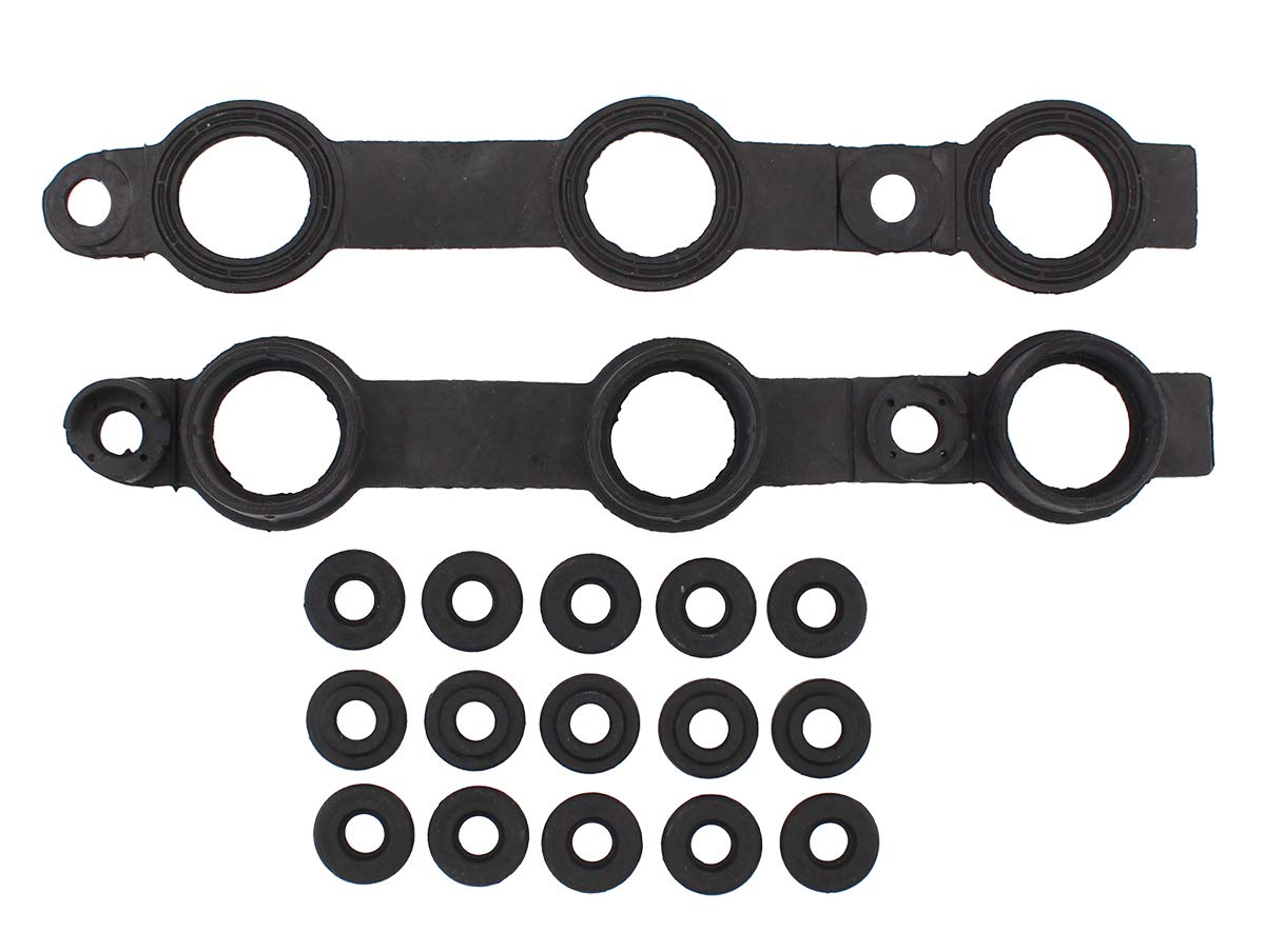 NewYall Engine Valve Cover Gasket Set /& 15 Grommet Seals