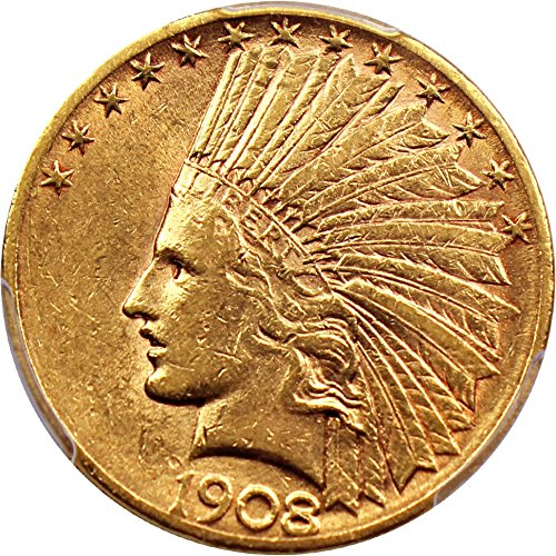 1908 S $10 Indian Gold Ten Dollar AU53 PCGS (David Lawrence Rare Coins)