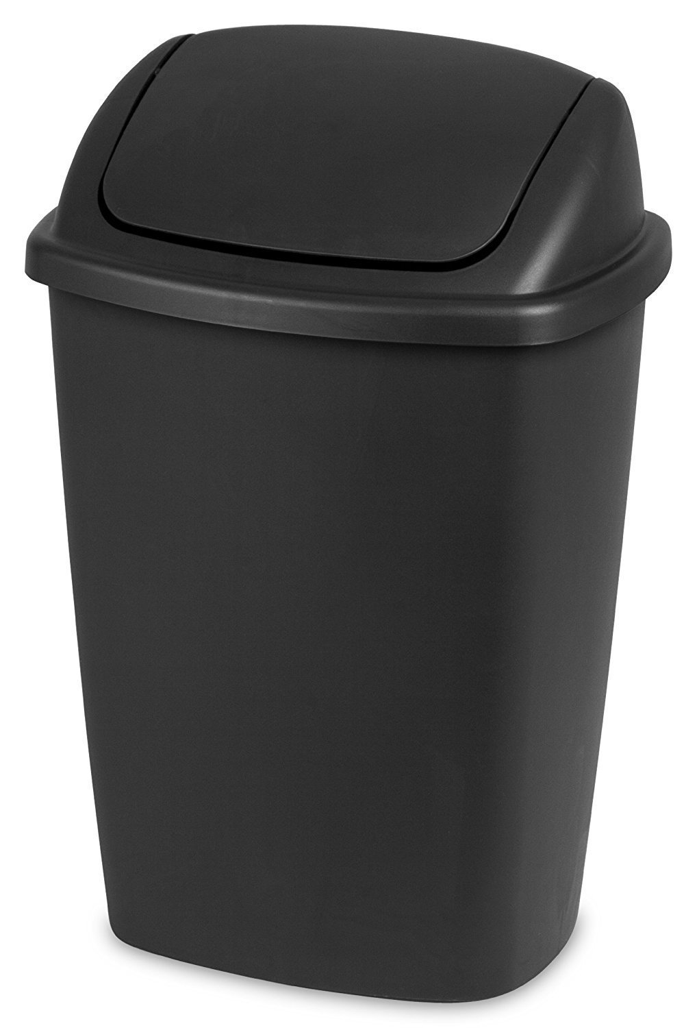 Sterilite® 7.5 Gallon Swing-Top Wastebasket - Black STERILITE- 10689006
