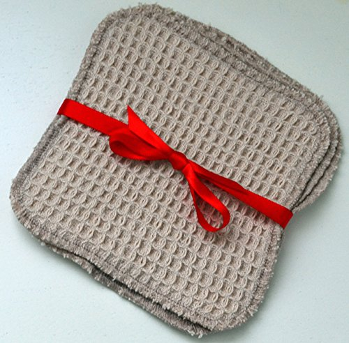 100-organic-waffle-weave-5x5-facial-cleaning-squares-set-of-3-with-mesh-bag