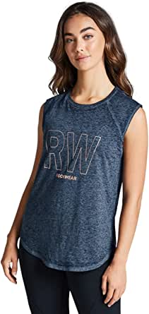 Rockwear Activewear Women's Gravity Raglan Seam Tank from Size 4-18 for Singlets Tops