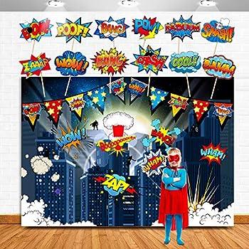 Amazon.com: Superhero Action Signs Cutouts 12 piezas ...
