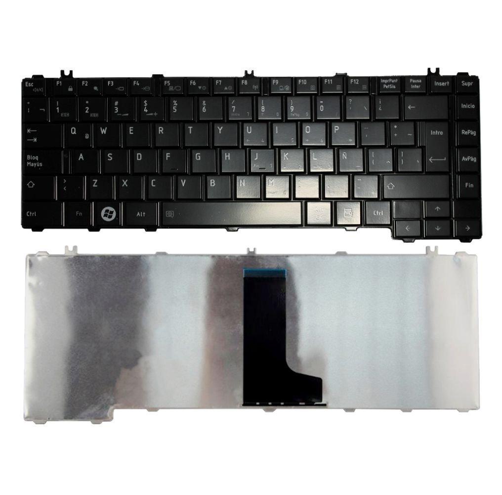 Amazon.com: Laptop Keyboard Toshiba Satellite L645 C600 L600 C645 NSK-TM0S 1E Spanish: Computers & Accessories