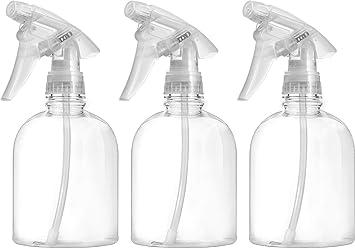 Bar5F Empty Clear Spray Bottle 16 oz  Adjustable Head Sprayer from Fine to  Stream (Pack of 3)