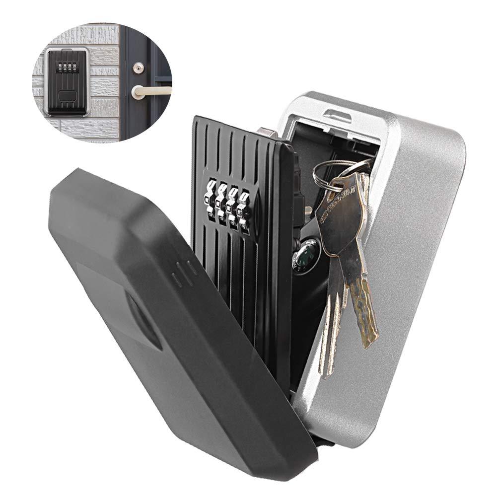 Schl/üsselsafe,Schl/üsselkasten mit Zahlencode,Wand Montiert Outdoor Schl/üssel Lagerung Lock-Box 4-Stellige Kombination Passwort Key Safe Box Code Schl/üssel,Schl/üsseltresor mit Zahlencode Aussen