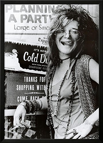 Janis Joplin Planning a Party Music Poster Print Lamina Framed Poster - 34.75 x (Planning Framed)