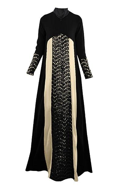 GladThink Donne Arabo Tradizionale Musulmano Vestito  Amazon.it   Abbigliamento e16fdddef6a