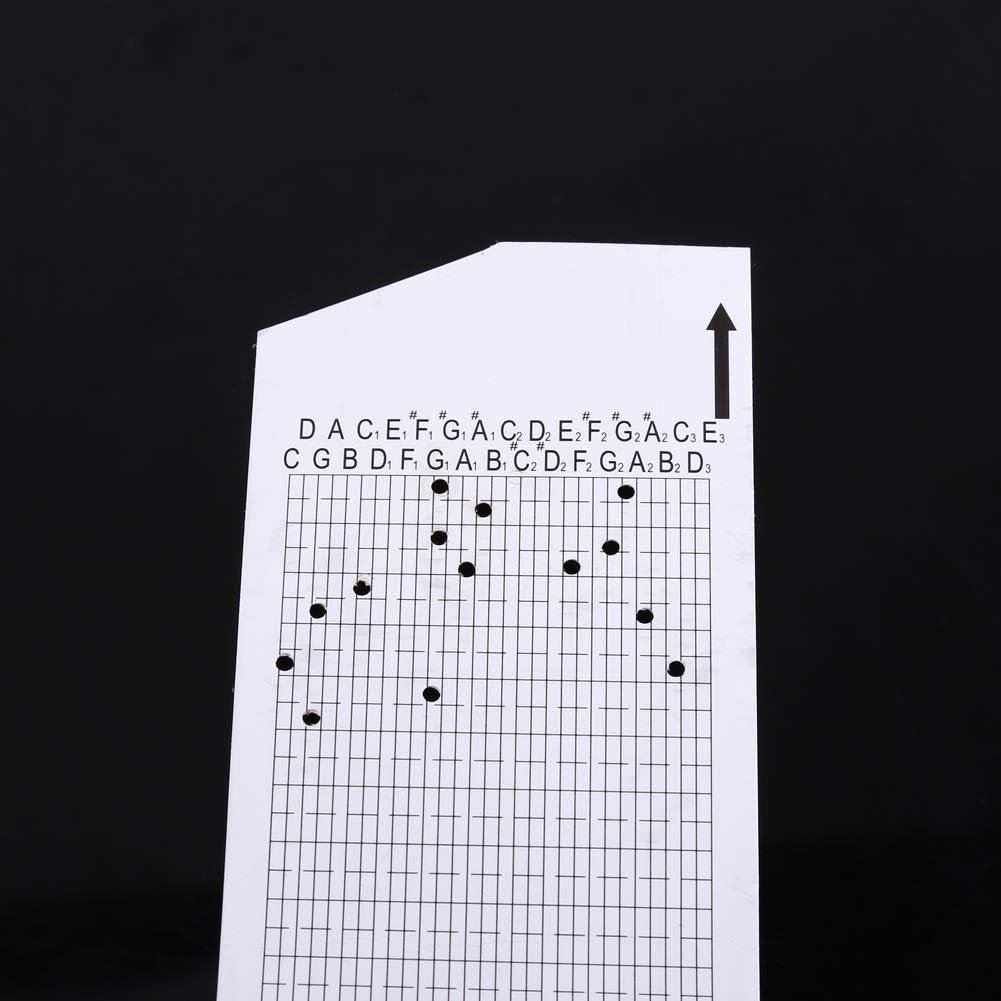 15 Mouvement Remarqu/é de Bo/îte /à Musique Bricolage Manivelle 20 Pcs Bande de Papier Vide Poin/çonneur